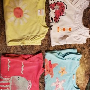 Gymboree lot of 4 shirts girl